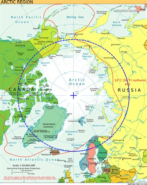 Map Arctic Circle
