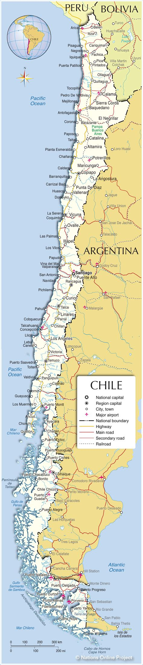 Map City Chile