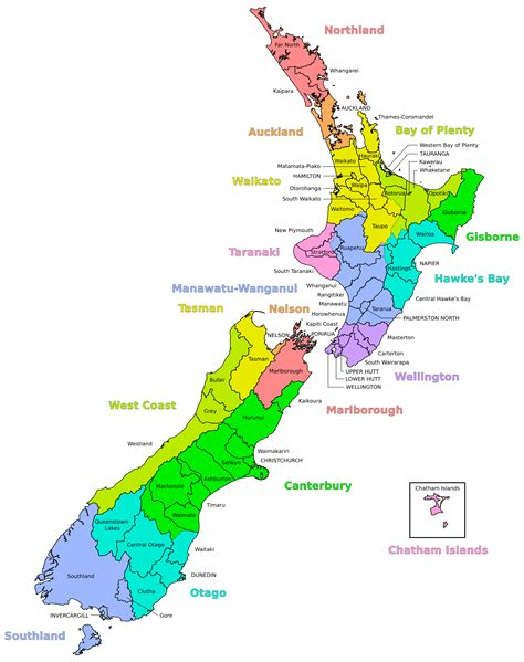Map For Nz