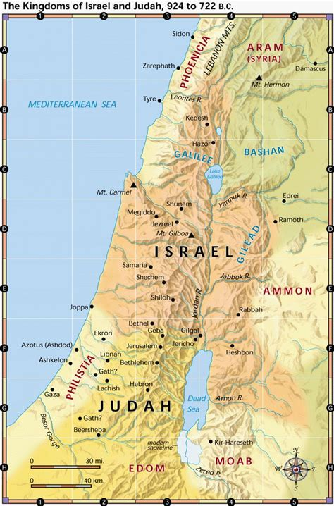 Map Israel Bible Times