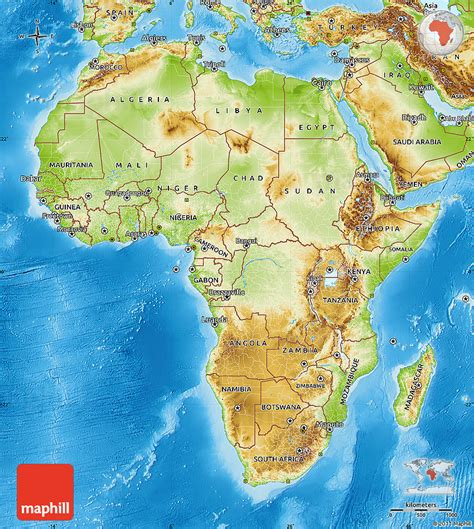 Map Of Africa Geography